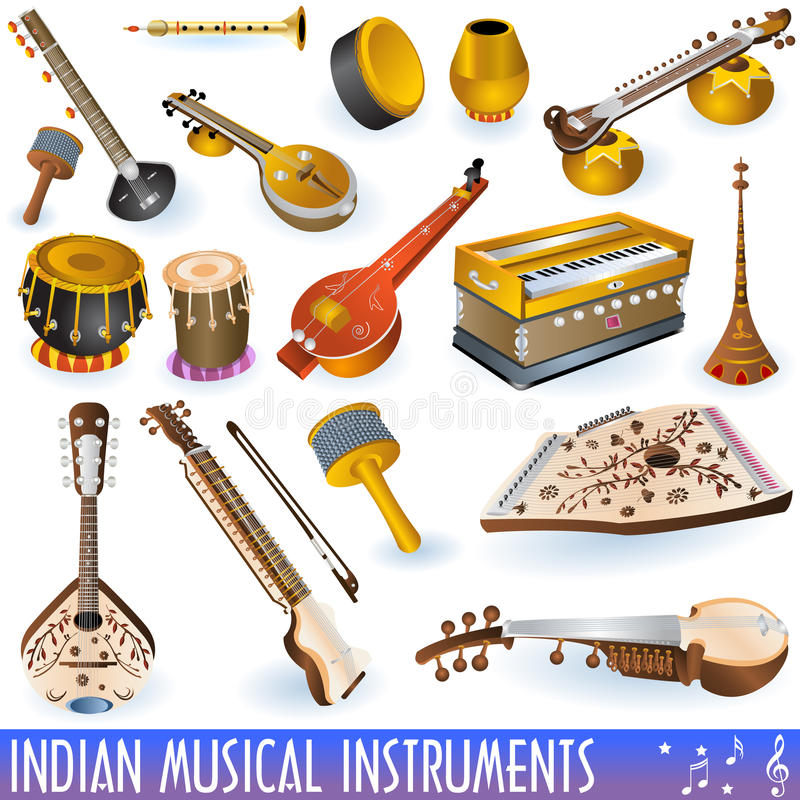Accumulazione musicale indiana royalty illustrazione gratis