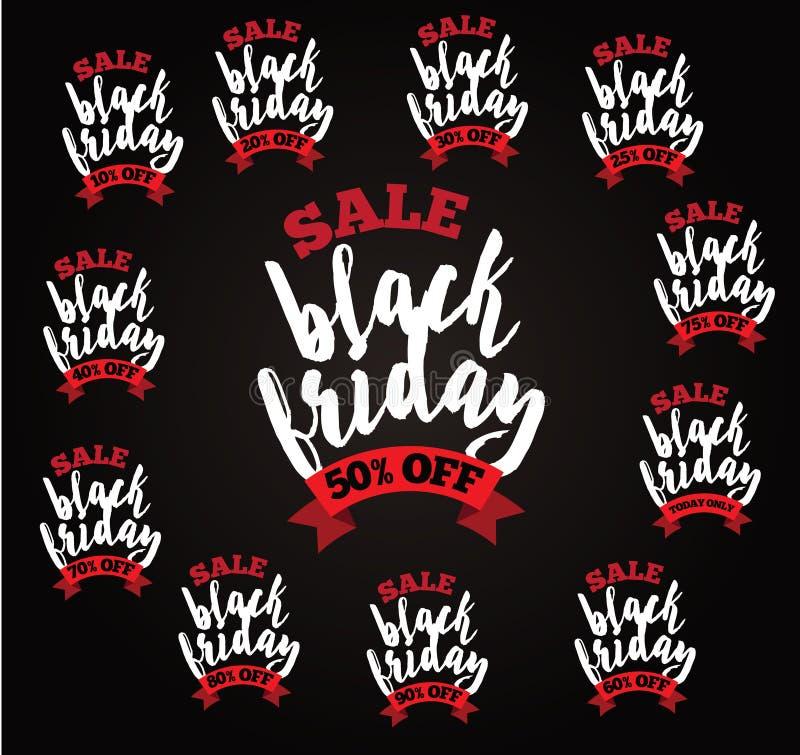 Accumulazione nera di vendita di venerdì illustrazione di stock