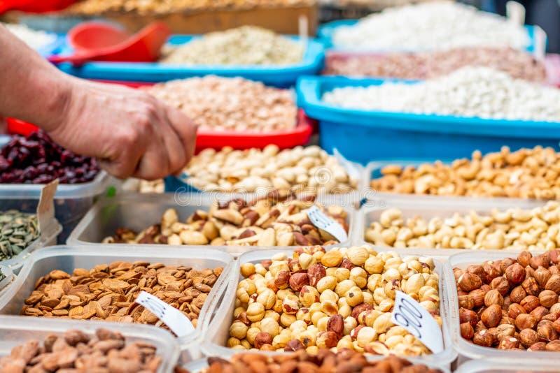 Accumulazione Nuts e secca della frutta immagine stock libera da diritti
