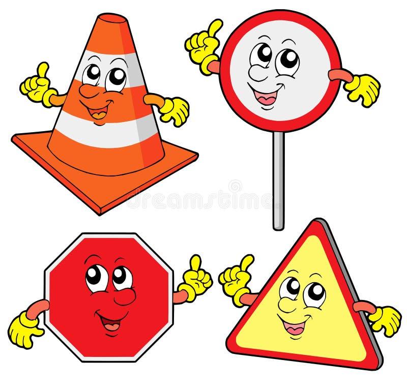 Download Accumulazione Sveglia Dei Segnali Stradali Illustrazione Vettoriale - Illustrazione di regola, configurazione: 7300526
