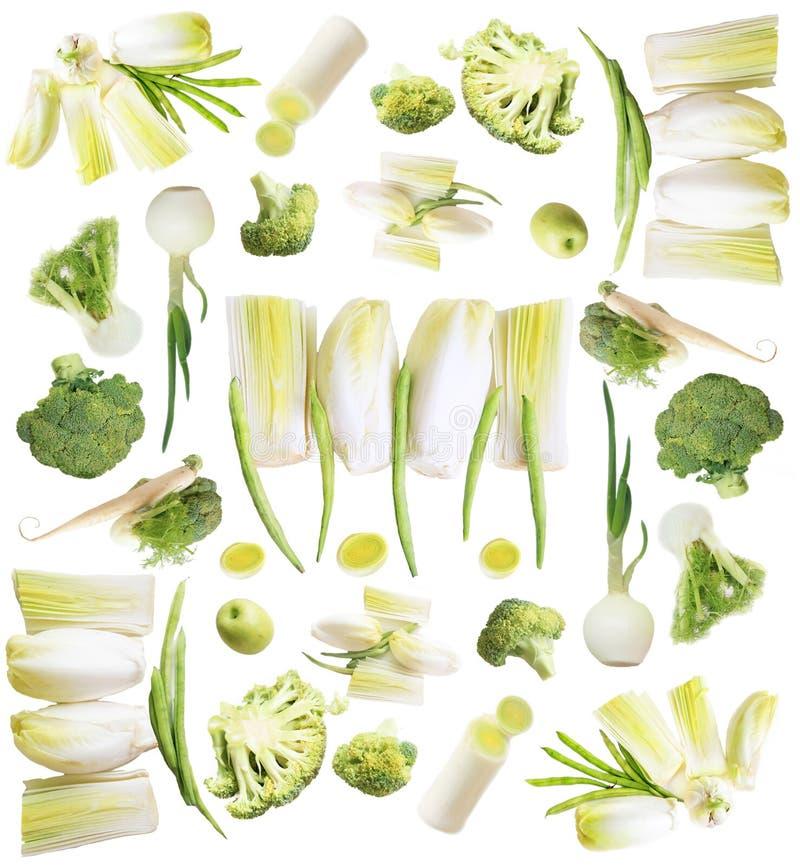 Accumulazione verde delle verdure immagine stock