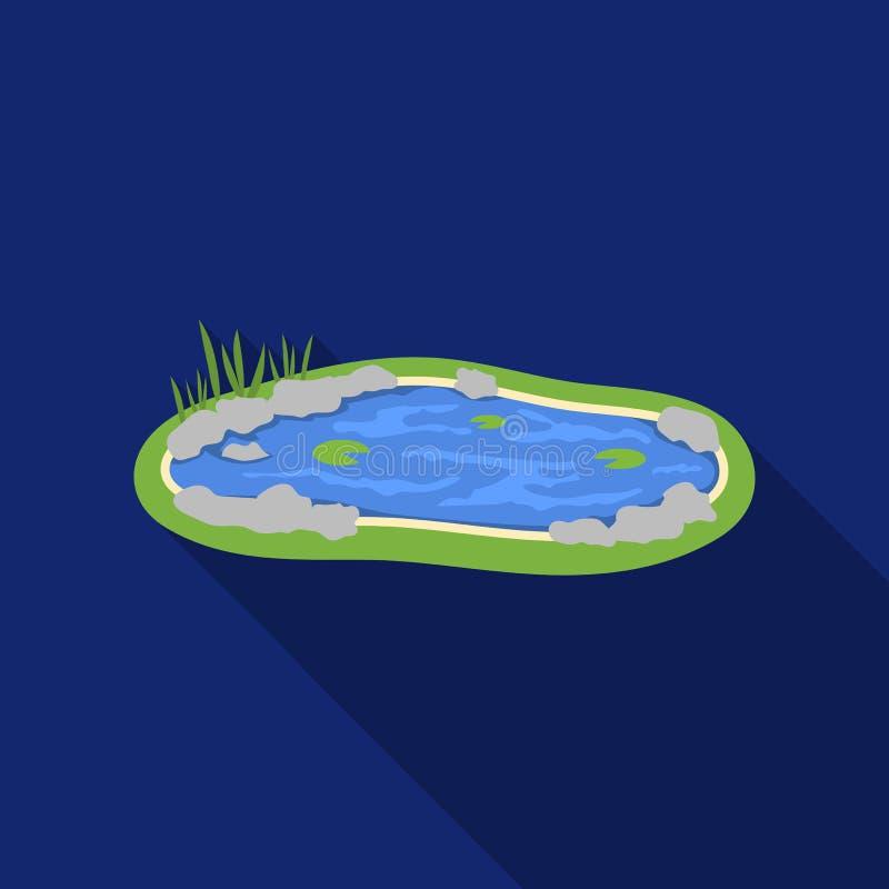 Accumuli l'icona nello stile piano isolata su fondo bianco Illustrazione di vettore delle azione di simbolo del parco illustrazione vettoriale
