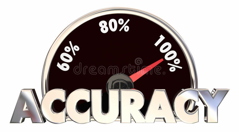 Accuracy Correct Right True Facts Measurement. 3d Illustration vector illustration