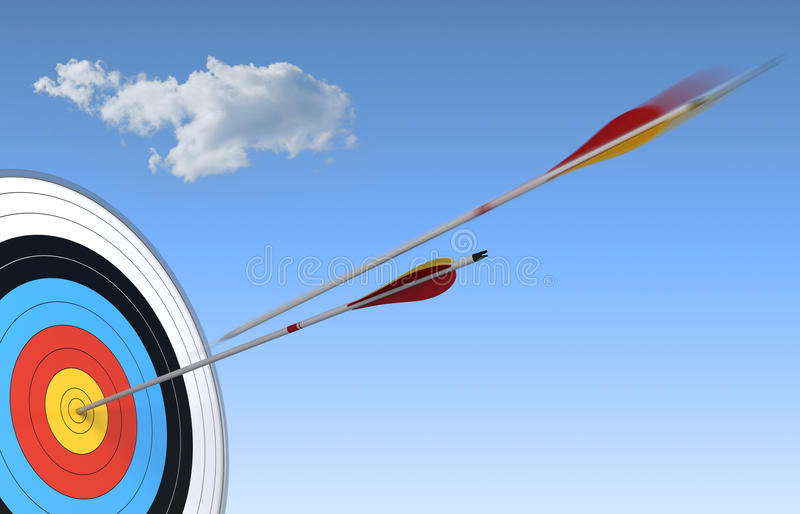 Download Accuracy, Hitting Center Of The Target Stock Illustration - Image: 25690416