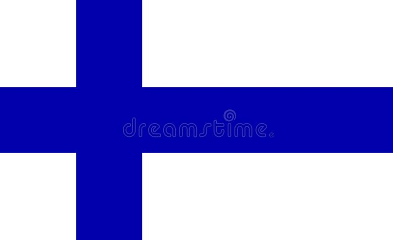 Accurate Finland flag. Vector national vector illustration