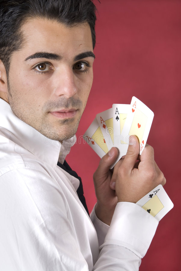 ace его втулка покера одного игрока стоковое фото rf