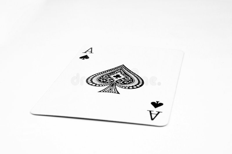Ace. On white background royalty free stock photos
