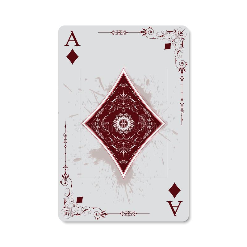 Ace av diamanter royaltyfri illustrationer
