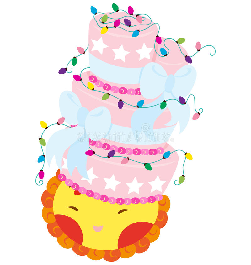 Download Ace And Cake stock vector. Image of cartoon, funky, animal - 21514530