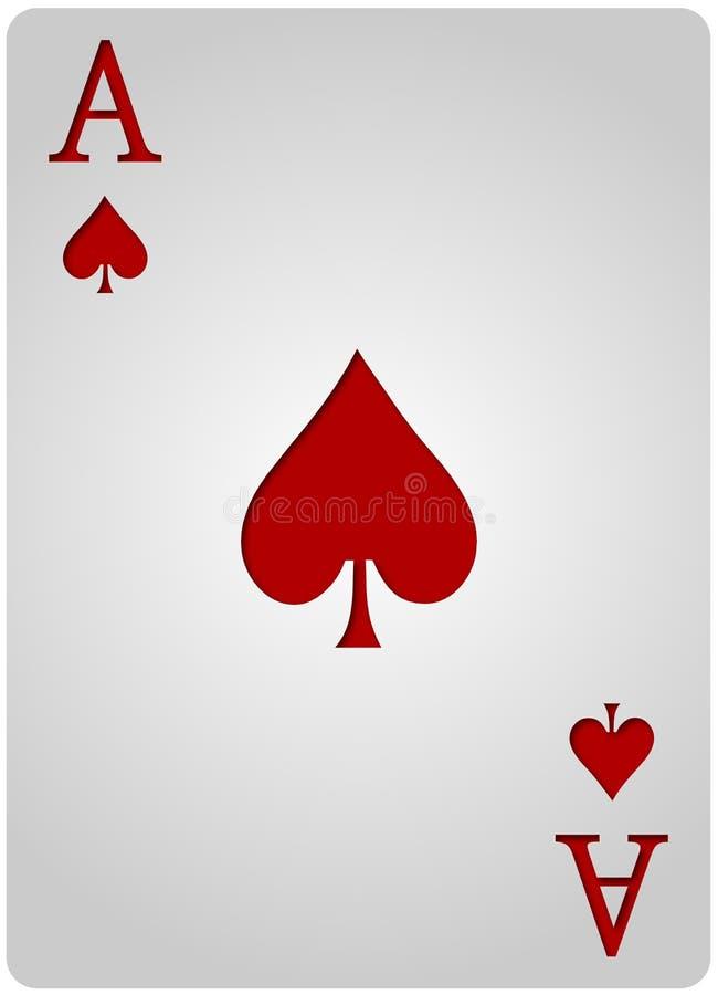 Ace carda el póker de las espadas fotos de archivo