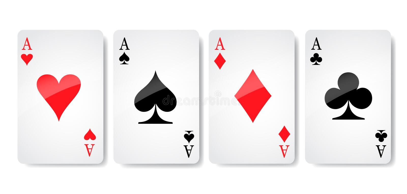 Ace carda il vettore dell'icona del vestito, vettore di simboli delle carte da gioco, ha messo il vestito di simbolo dell'icona,  illustrazione di stock
