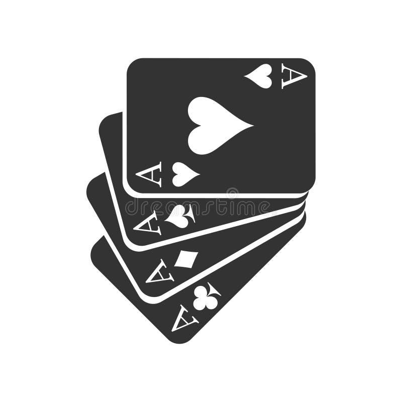 Ace carda o ícone do terno ilustração do vetor