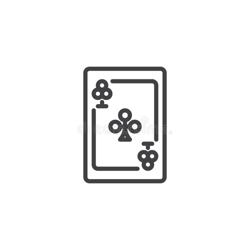 Ace da linha ícone dos trevos ilustração royalty free