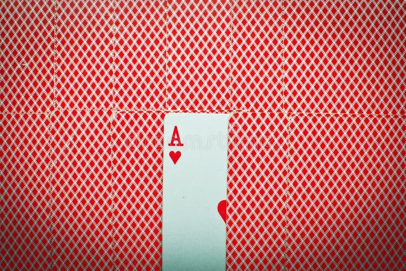 Ace de corações imagens de stock royalty free