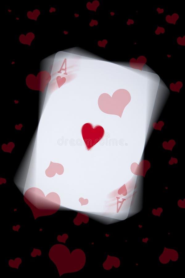 Ace de corazones foto de archivo libre de regalías