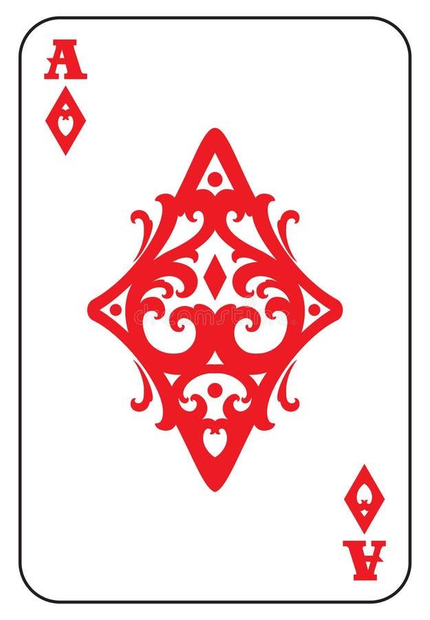 Ace de diamantes ilustração do vetor