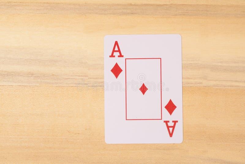 Ace de jouer la carte photo stock