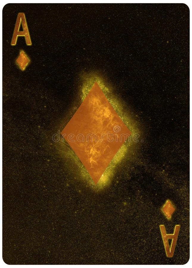 Ace do fundo do sum?rio do cart?o de jogo dos diamantes ilustração royalty free