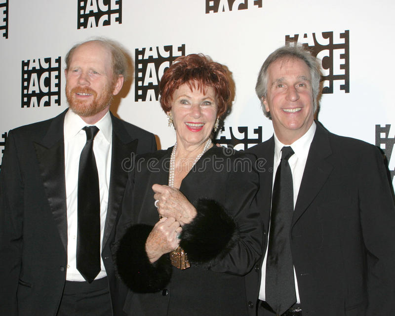 Ron Howard, Marion Ross, Henry Winkler royalty-vrije stock foto