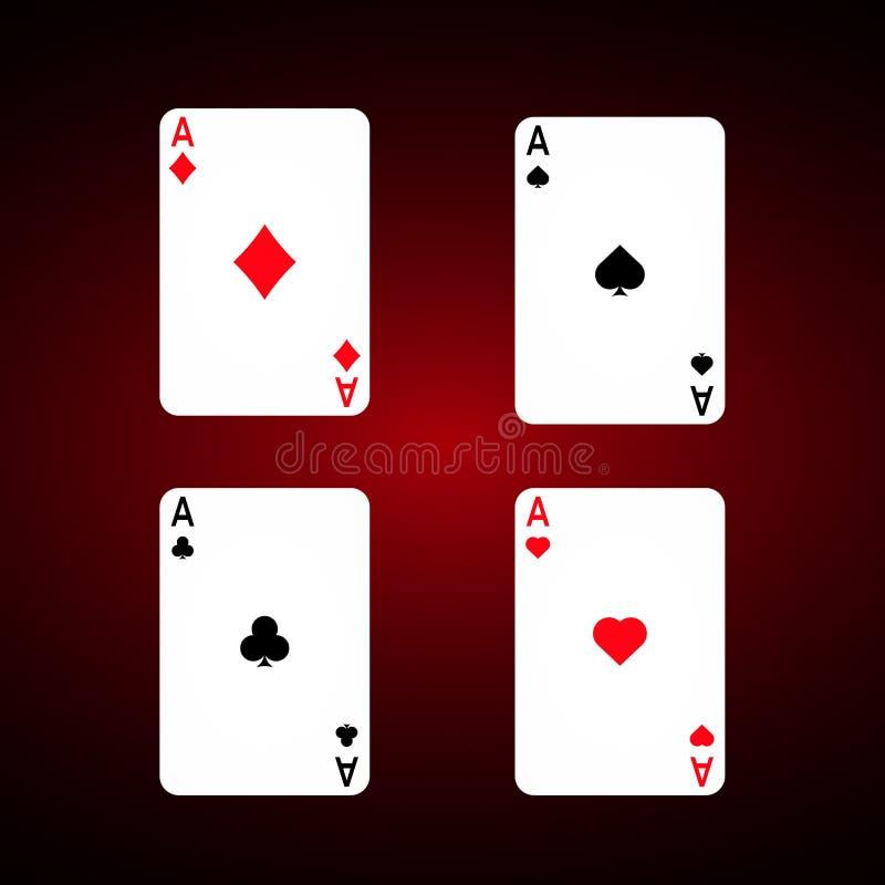 Ace geplaatst vector Diamanten vector illustratie