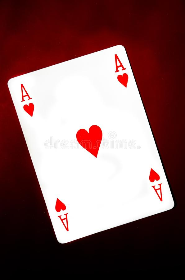 Ace of hearts stock image