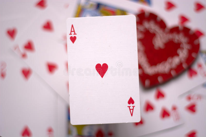 Ace of hearts royalty free stock image