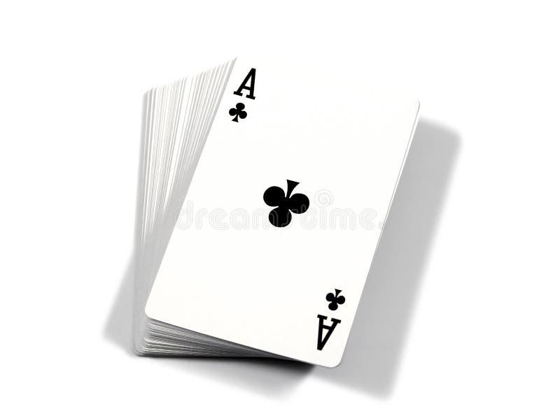 Ace - illustrazione delle carte Ace delle carte da gioco isolate su fondo bianco fotografie stock libere da diritti