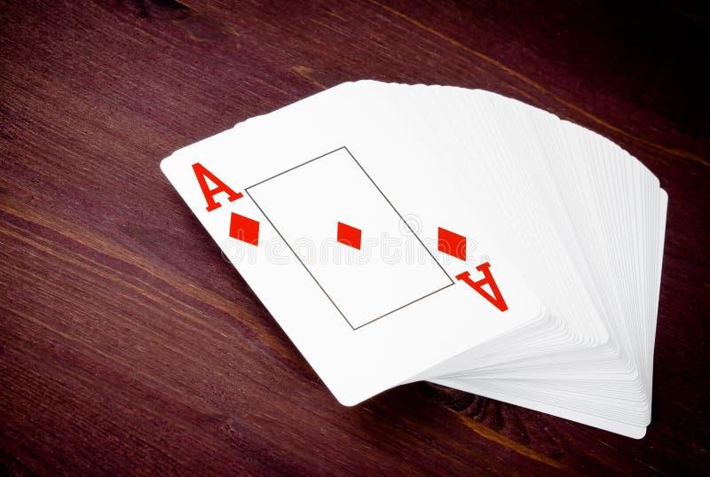 Ace jouant la carte, concept de jeu de poker le Texas photographie stock