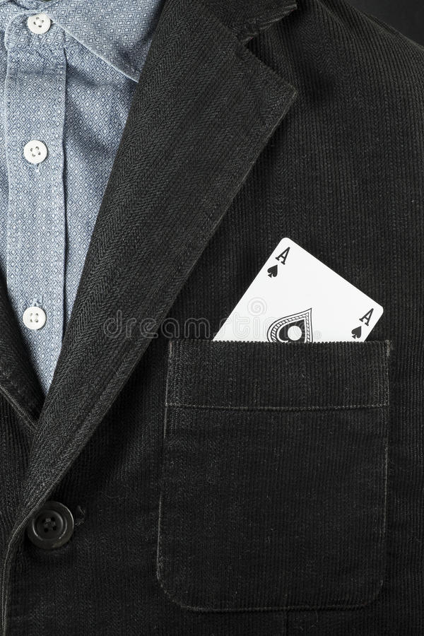 Ace no furo, no conceito para a vitória do negócio e na competição de vencimento imagens de stock