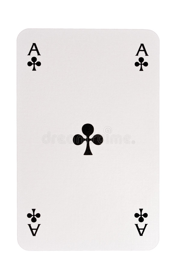 Free Ace Of Clubs Royalty Free Stock Image - 8641276