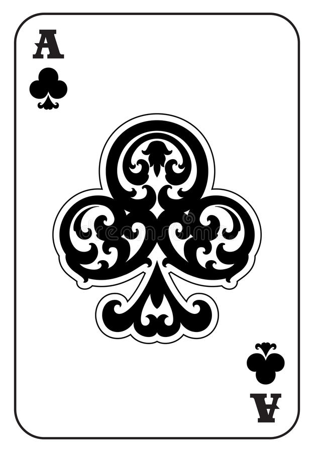 Free Ace Of Clubs Royalty Free Stock Photo - 97457305