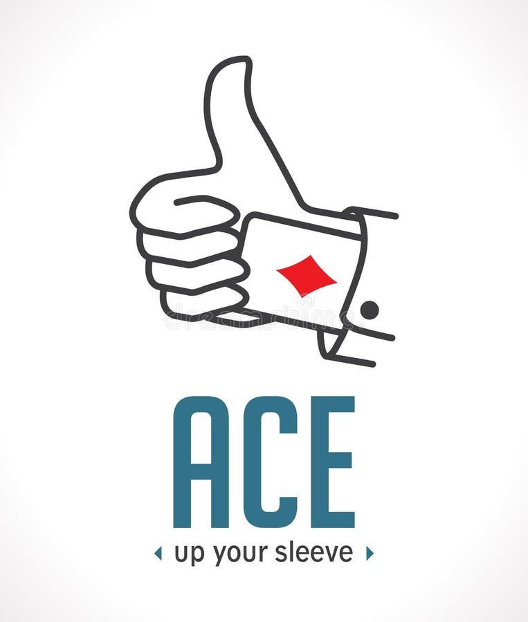 Ace omhoog uw koker - belangrijkste beslissend argument vector illustratie