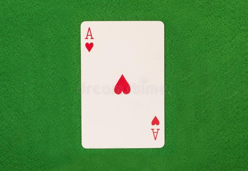 Ace op Groene Lijst royalty-vrije stock afbeelding