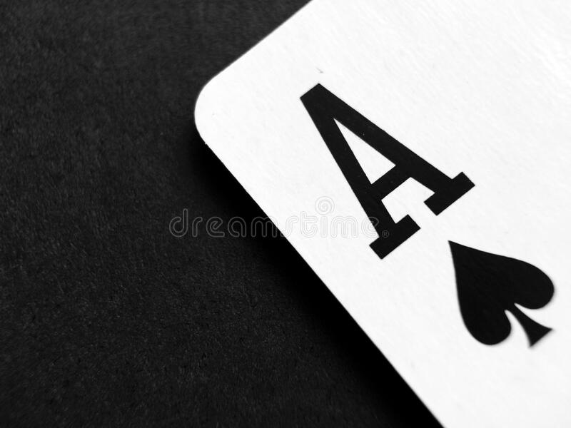Ace playing card royalty free stock photos
