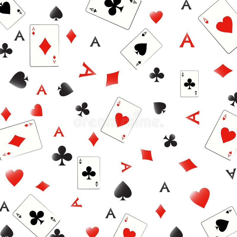 Ace seamless pattern royalty free illustration