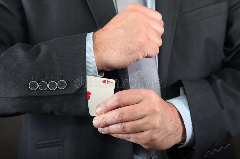Download Ace in sleeve stock photo. Image of human, gesture, have - 16750472