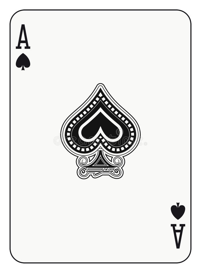 Ace of Spade vector illustration