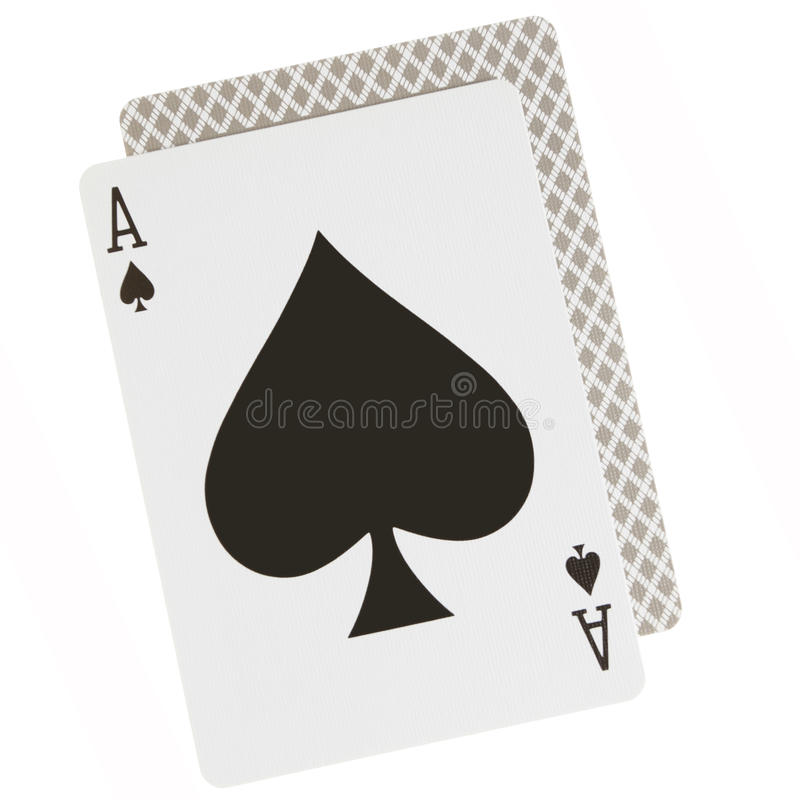 Ace Spades Stock Images