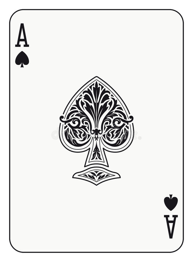 Ace of spades. Playing card stock illustration