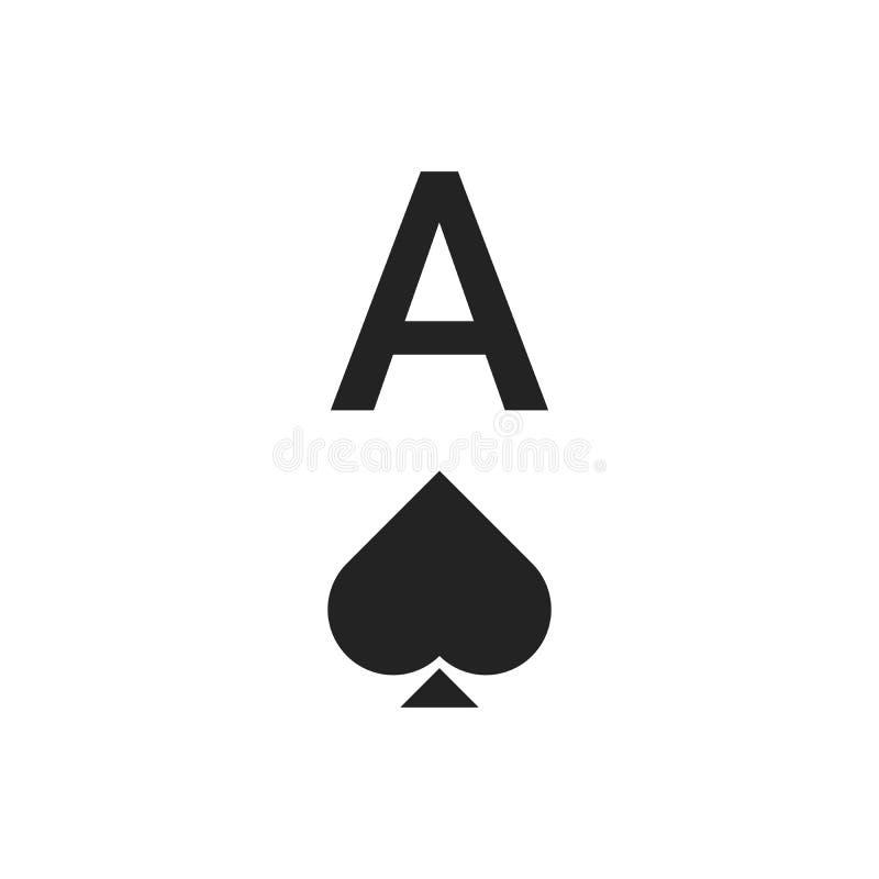 Ace of spades Vektorgrafik isoliert auf weißem Hintergrund EPS10 vektor abbildung
