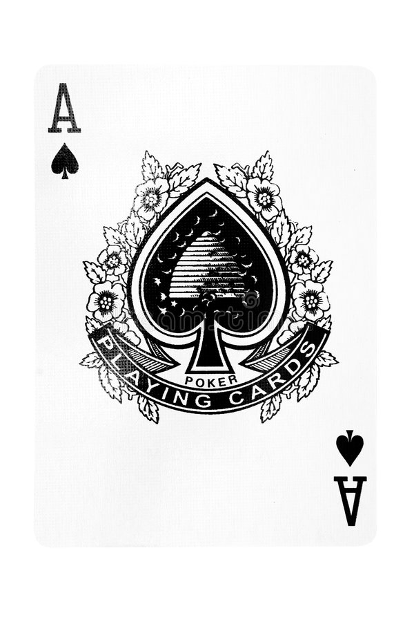 Ace Of Spades W/ Path Royalty Free Stock Images
