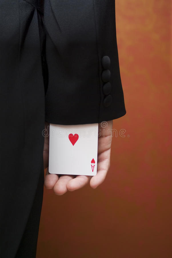 Ace up the sleeve royalty free stock images