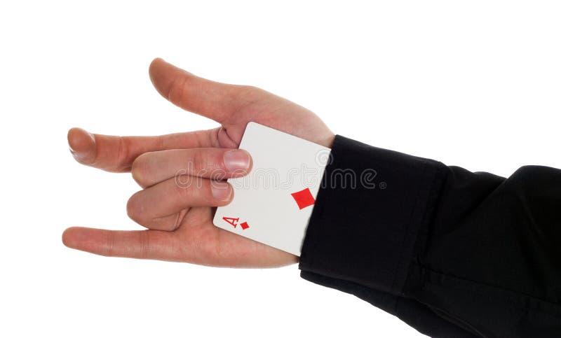 Ace Up The Sleeve stock photos