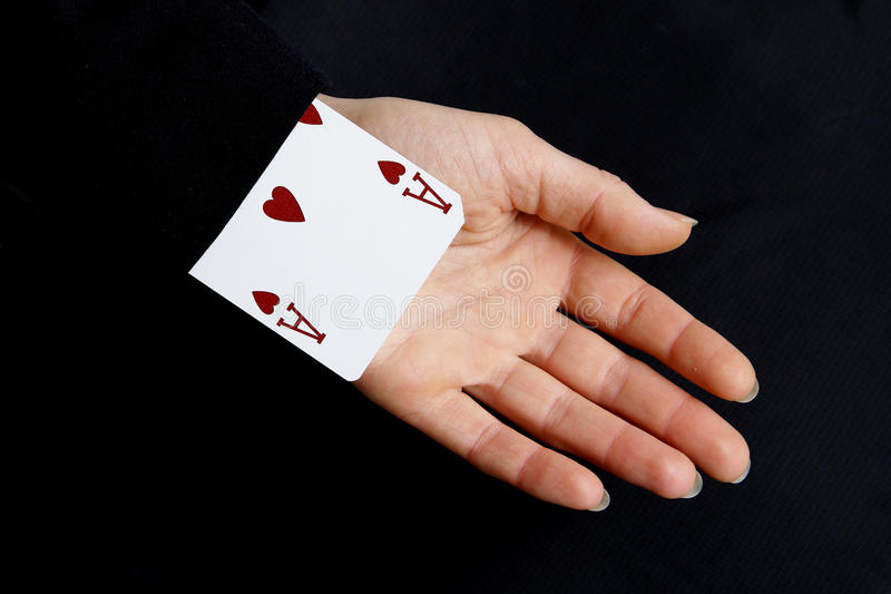 An ace up your sleeve stock photography