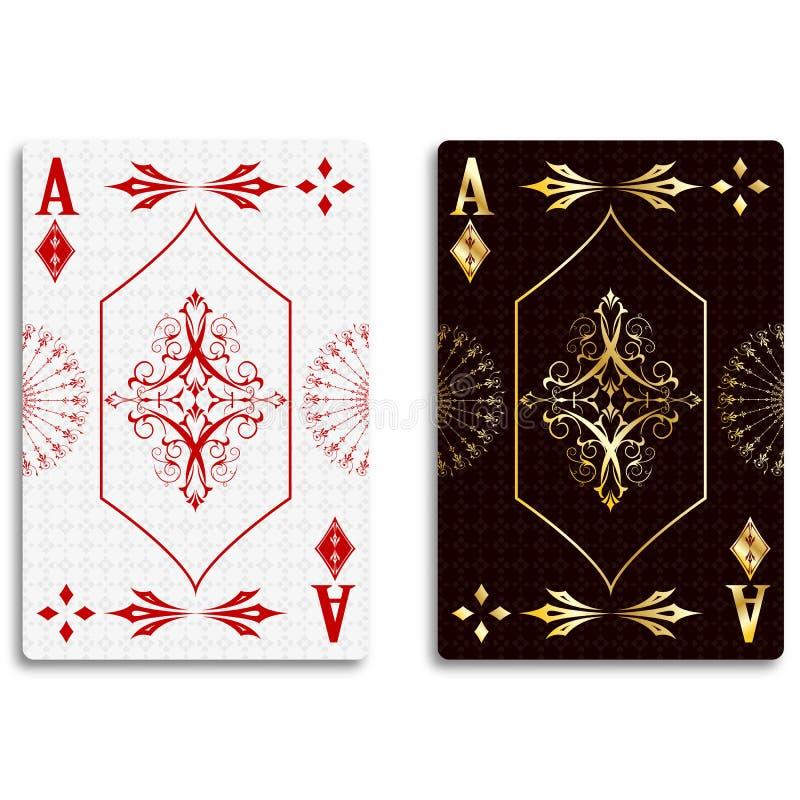 Ace van Diamanten stock illustratie