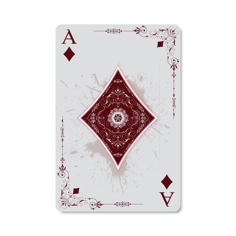 Ace van Diamanten royalty-vrije illustratie