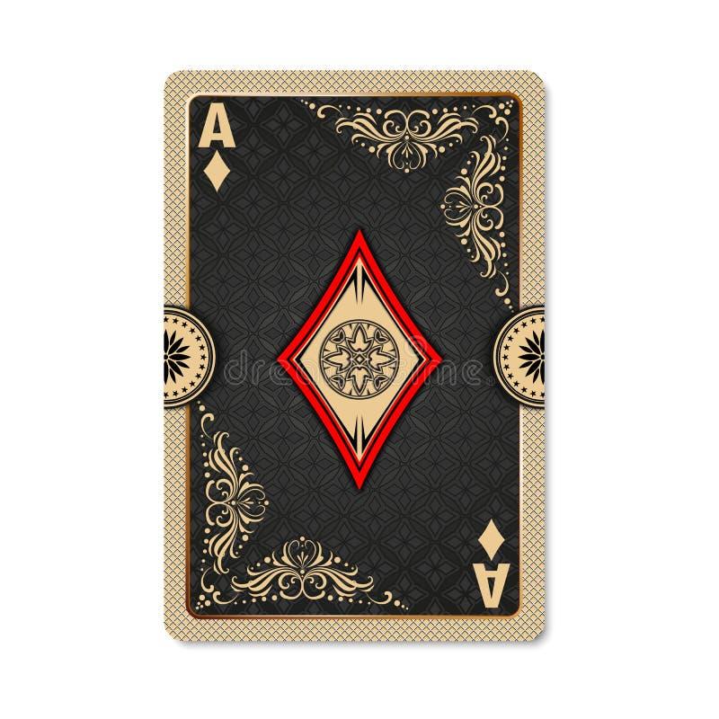 Ace van Diamanten vector illustratie