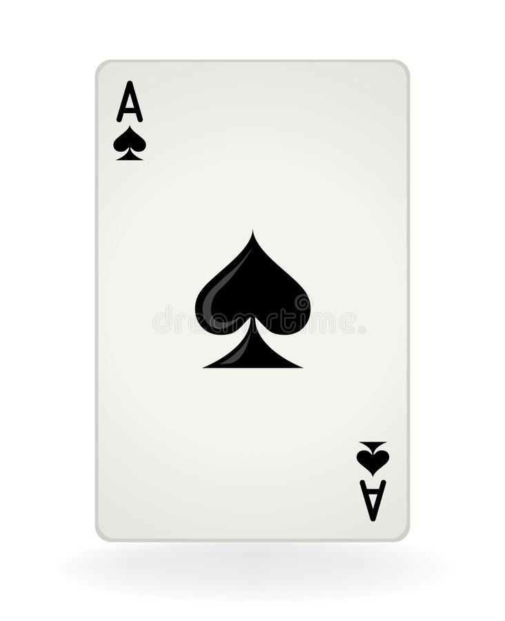 Ace van Spades royalty-vrije stock fotografie