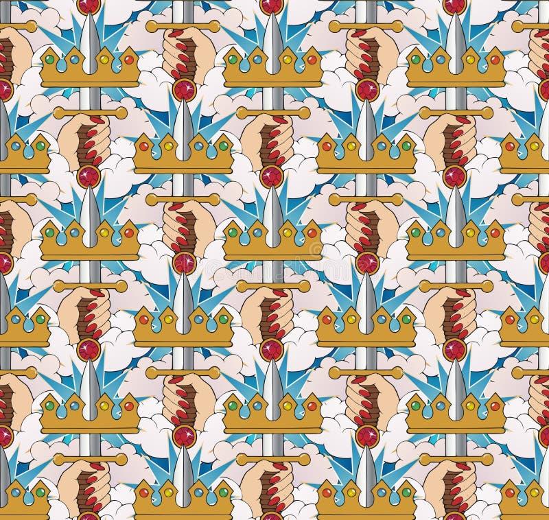 Ace van zwaardenpatroon royalty-vrije illustratie