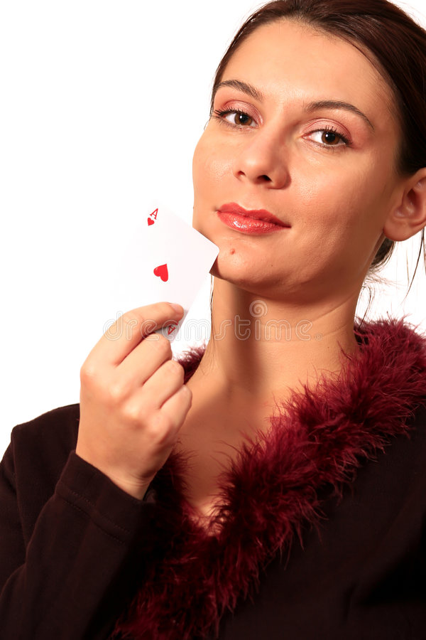 Download Ace woman stock photo. Image of glamour, cute, lips, card - 1401720